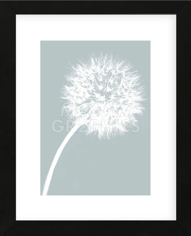 Dandelion Tilt (blue)  (Framed) -  Jenny Kraft - McGaw Graphics