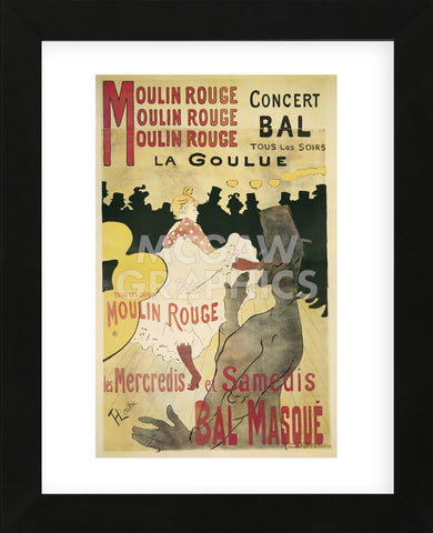 Moulin Rouge/La Goulue (Framed) -  Henri de Toulouse Lautrec - McGaw Graphics