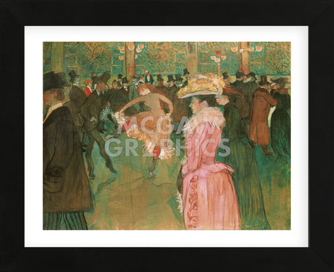 Henri de Toulouse Lautrec - At the Moulin Rouge: The Dance, 1890