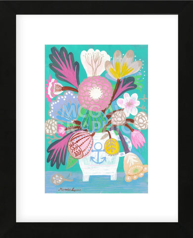 Flowers in a Sailor Jar (Framed) -  Mercedes Lagunas - McGaw Graphics
