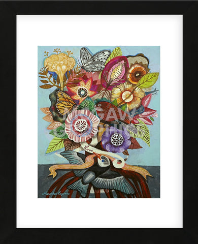Flowers n. 14 (Framed) -  Mercedes Lagunas - McGaw Graphics
