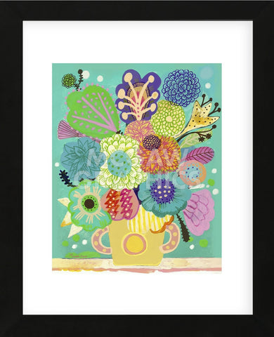 Green Vase (Framed) -  Mercedes Lagunas - McGaw Graphics