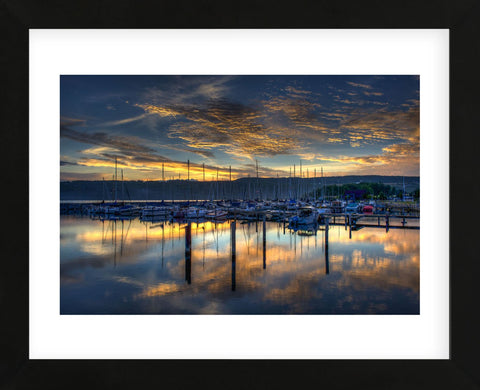 Seneca Lake Sunrise (Framed) -  Robert Lott - McGaw Graphics