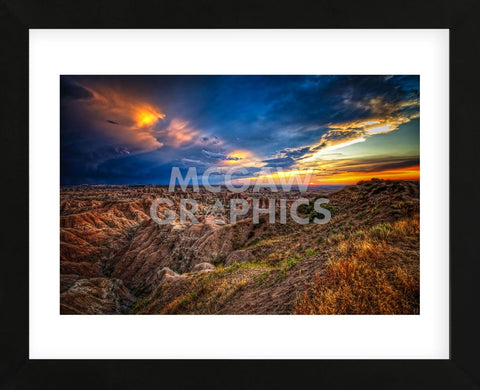 Badlands after Storm #3 (Framed) -  Robert Lott - McGaw Graphics