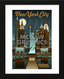 New York City (Framed) -  Lantern Press - McGaw Graphics