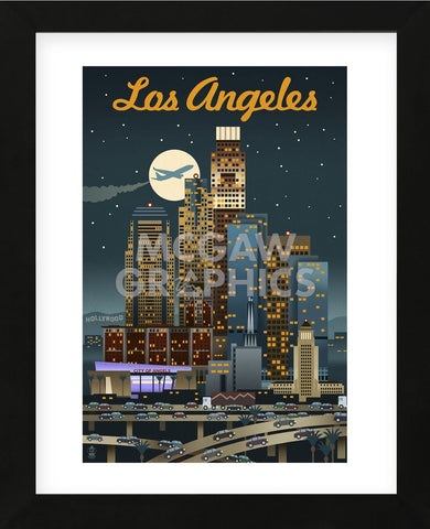 Los Angeles (Framed) -  Lantern Press - McGaw Graphics