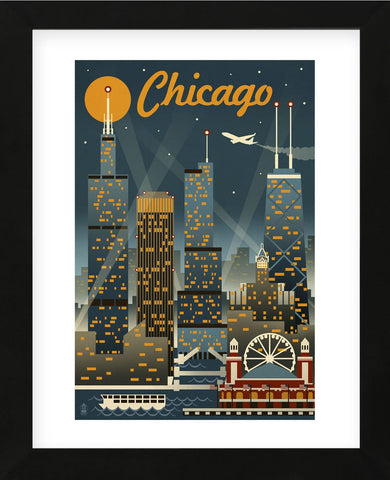Chicago (Framed) -  Lantern Press - McGaw Graphics