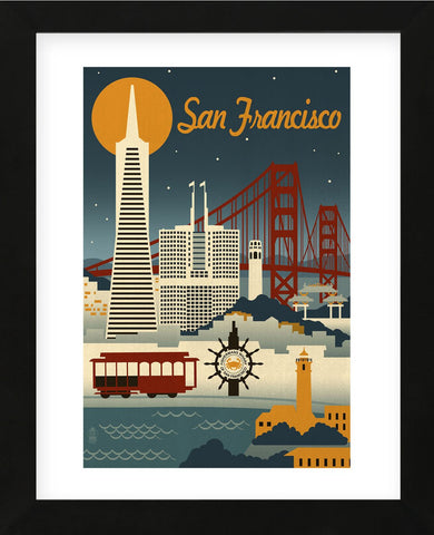 San Francisco (Framed) -  Lantern Press - McGaw Graphics
