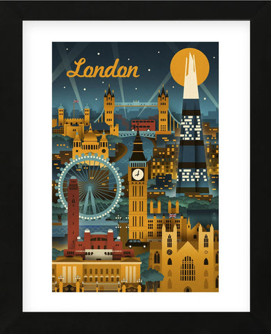 London (Framed) -  Lantern Press - McGaw Graphics
