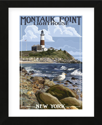Montauk Point Lighthouse (Framed) -  Lantern Press - McGaw Graphics