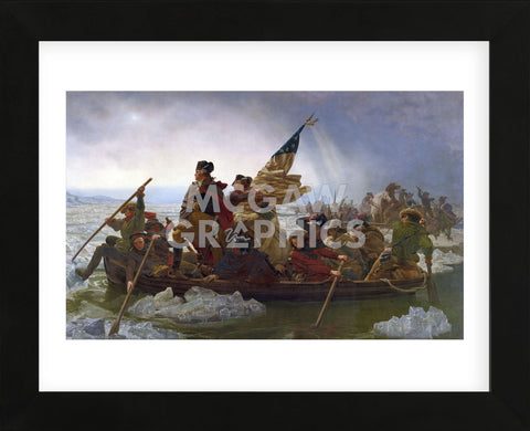 Washington Crossing the Delaware (cropped) (Framed) -  Emanuel Gottlieb Leutze - McGaw Graphics