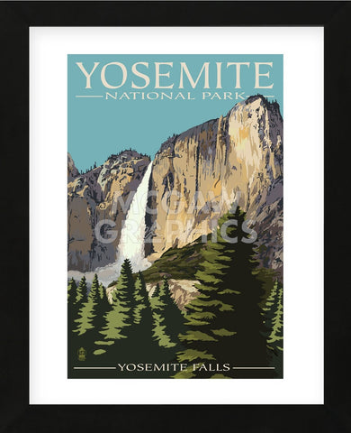 Yosemite Falls (Framed) -  Lantern Press - McGaw Graphics