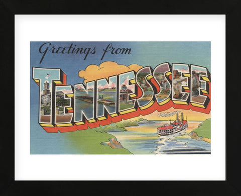 Greetings from Tennessee (Framed) -  Lantern Press - McGaw Graphics