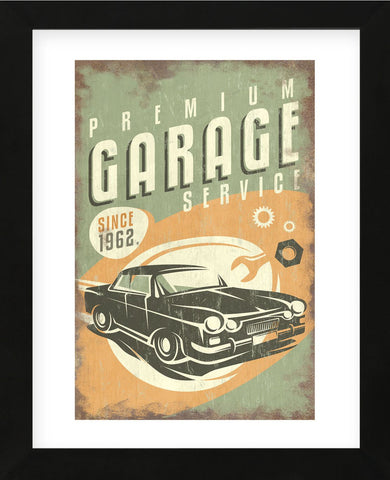 Premium Garage Service (Framed) -  Lantern Press - McGaw Graphics