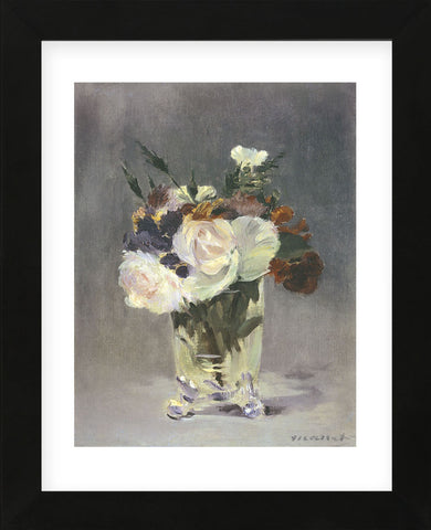 Flowers in a Crystal Vase  (Framed) -  Edouard Manet - McGaw Graphics