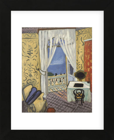 Interior with a Violin Case  (Framed) -  Henri Matisse - McGaw Graphics
