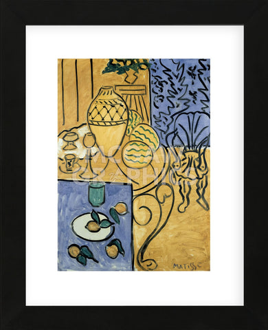 Interior in Yellow and Blue, 1946  (Framed) -  Henri Matisse - McGaw Graphics