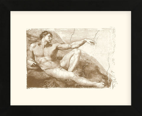 Creation of Adam (Adam detail)   (Framed) -  Michelangelo - McGaw Graphics