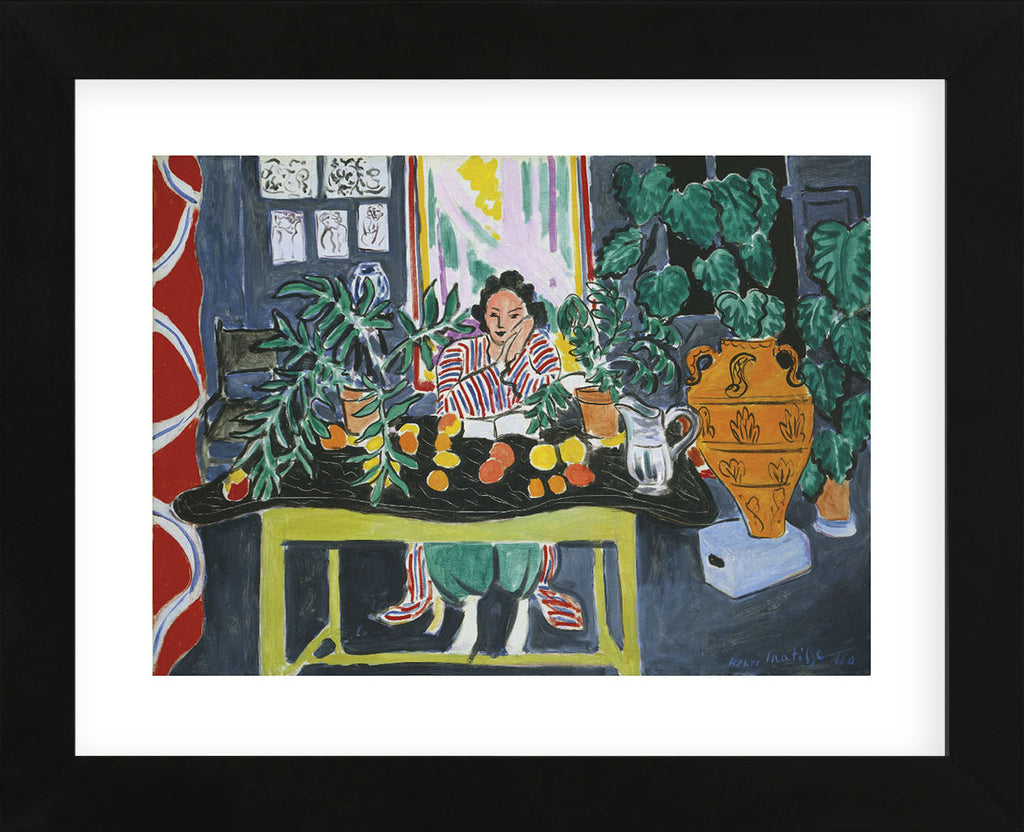 henri matisse interior with an etruscan vase intrieur au vase trusque 1940