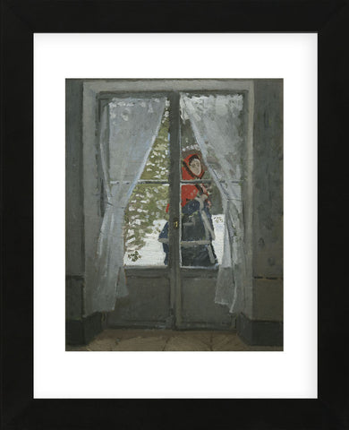 The Red Kerchief: Portrait of Mrs. Monet, 1868-1878  (Framed) -  Claude Monet - McGaw Graphics