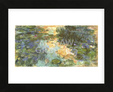The Water Lily Pond, 1918  (Framed) -  Claude Monet - McGaw Graphics
