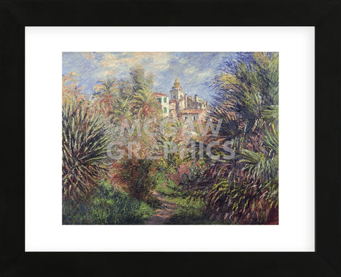 Gardens at Bordighera, 1884  (Framed) -  Claude Monet - McGaw Graphics