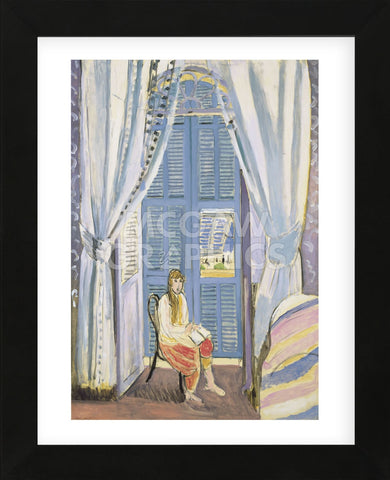 The French Window at Nice, late 1919  (Framed) -  Henri Matisse - McGaw Graphics
