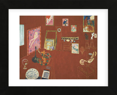 The Red Studio (Framed) -  Henri Matisse - McGaw Graphics