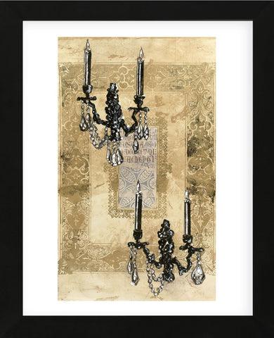 Brocade Sconces  (Framed) -  Pyper Morgan - McGaw Graphics