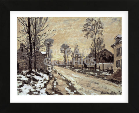 Claude Monet - Road at Louveciennes, Melting Snow, Sunset