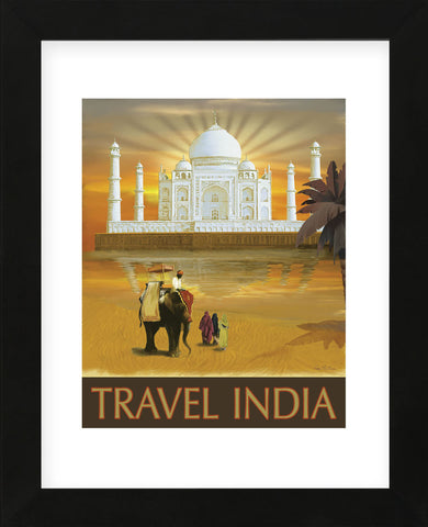 Travel India  (Framed) -  Kem McNair - McGaw Graphics