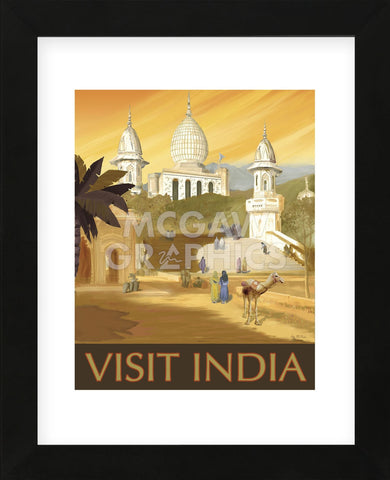 Visit India  (Framed) -  Kem McNair - McGaw Graphics