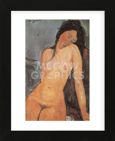 Amedeo Modigliani - Seated Nude, ca. 1917