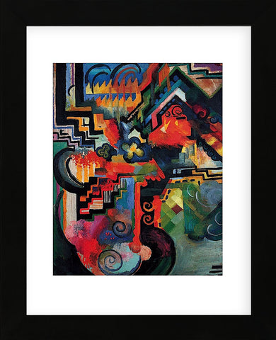 August Macke - Colored composition (Hommage a_ Sebastin Johann Bach)