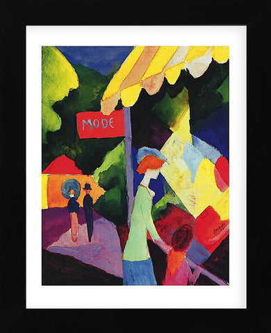 Fashion Store Window (Framed) -  August Macke - McGaw Graphics