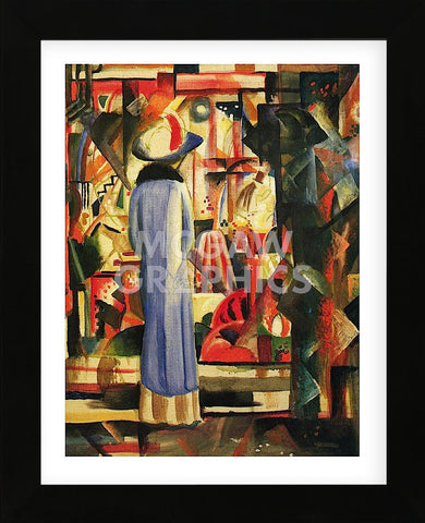 Large Bright Showcase (Framed) -  August Macke - McGaw Graphics