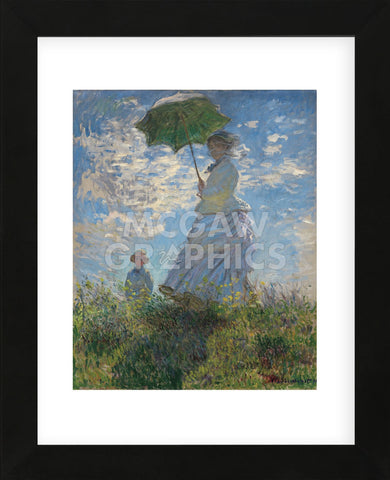 Woman with a Parasol, 1875 (Framed) -  Claude Monet - McGaw Graphics