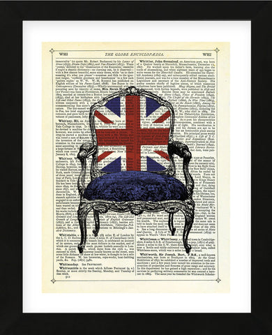 Union Jack Chair (Framed) -  Marion McConaghie - McGaw Graphics