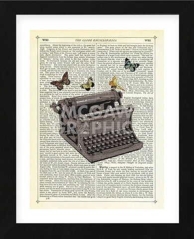 Typewriter (Framed) -  Marion McConaghie - McGaw Graphics