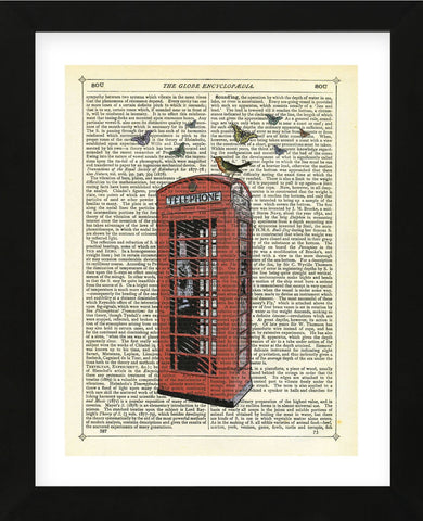 Red Telephone Box (Framed) -  Marion McConaghie - McGaw Graphics