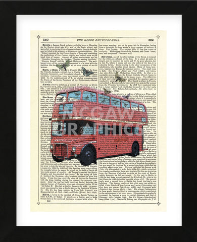 Butterfly London Bus (Framed) -  Marion McConaghie - McGaw Graphics