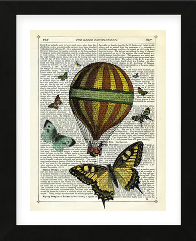 Butterflies & Balloon (Framed) -  Marion McConaghie - McGaw Graphics
