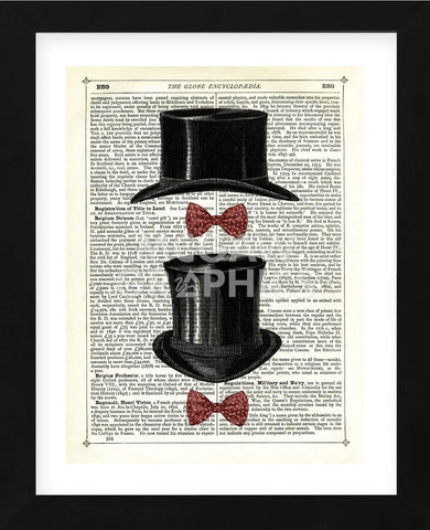 Top Hat & Bow Ties (Framed) -  Marion McConaghie - McGaw Graphics