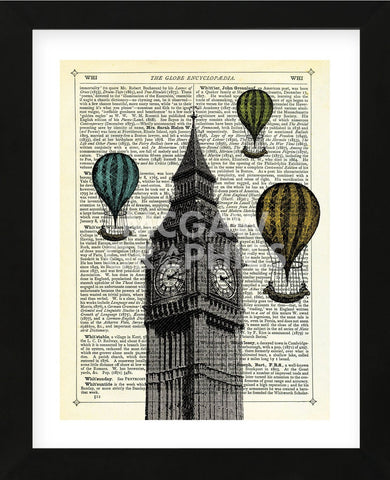 Big Ben & Balloons (Framed) -  Marion McConaghie - McGaw Graphics