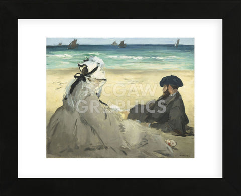 On the Beach, 1873 (Framed) -  Edouard Manet - McGaw Graphics