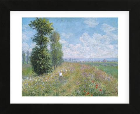 Meadow with Poplars, about 1875 (Framed) -  Claude Monet - McGaw Graphics