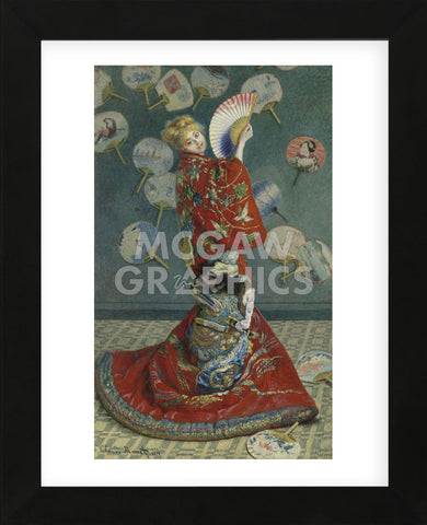La Japonaise (Camille Monet in Japanese Costume), 1876 (Framed) -  Claude Monet - McGaw Graphics