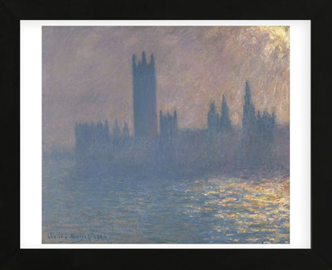 Houses of Parliament, Sunlight Effect (Le Parlement, effet de soleil), 1903 (Framed) -  Claude Monet - McGaw Graphics