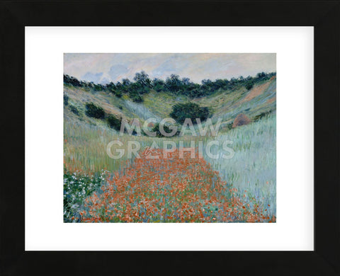 Poppy Field in a Hollow Near Giverny, 1885 (Framed) -  Claude Monet - McGaw Graphics