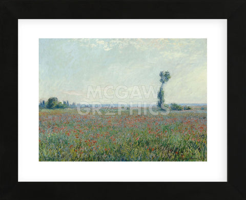 Poppy Field, 1881 (Framed) -  Claude Monet - McGaw Graphics